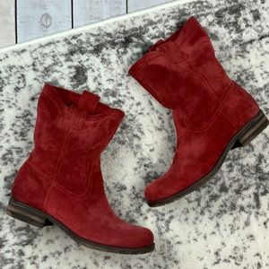 Naturalizer Basha red suede slouch boots